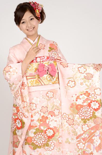 【MK-28007】★ピンク地がふんわり可憐な桜の花柄振袖