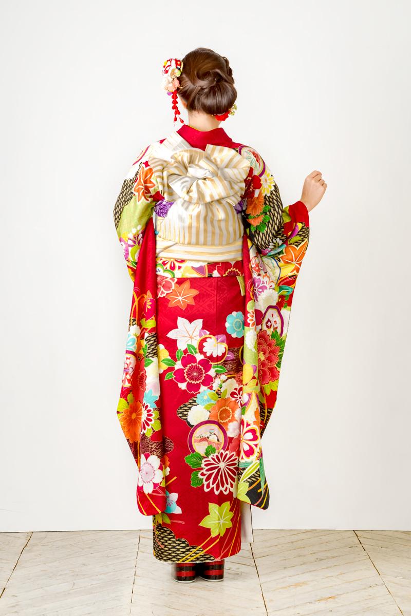 【MK-1110】橘に手毬と花柄